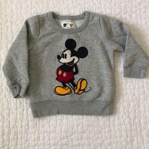 Gap Mickey Mouse appliqué sweatshirt, 18-24 months